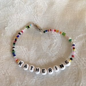 "KATHRINE 7 1/2"" personalized bracelet-NEW"